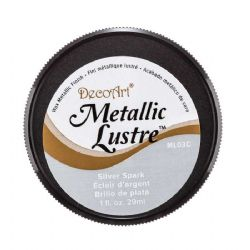 DecoArt Metallic Lustre™ Wax Finish Silver Spark